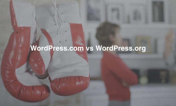 WordPress.com vs. WordPress.org – Quel est le meilleur CMS WordPress?